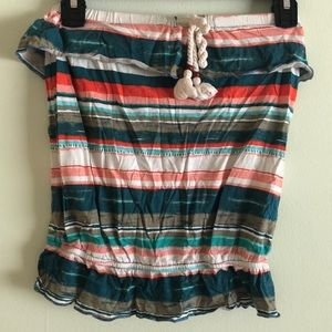 Arizona - Strapless Tube Top with Rope Detail (S)
